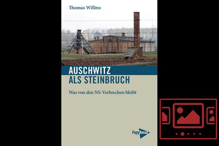 """Das slideshow-Fenster mit begleitenden Bildern zur Veranstaltung '""""Auschwitz als Steinbruch"""" - Der Autor Thomas Willms liest im Foyer des Stadttheaters aus seinem Buch.' anzeigen ..."""