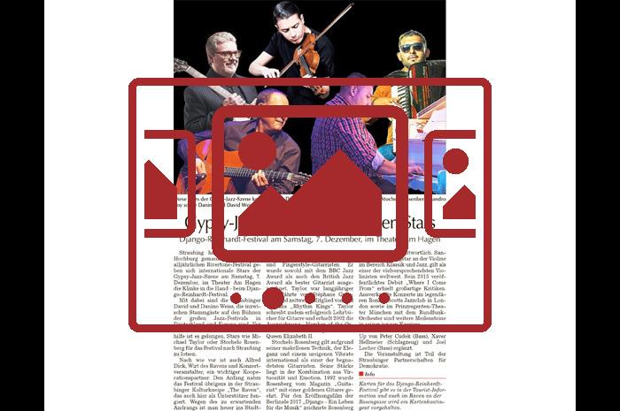 Das slideshow-Fenster zu den Presseberichten 'Das Django Reinhardt Festival 2019' anzeigen ...