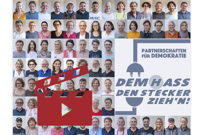 Das Video-Fenster 'Der Clip zur Kampagne :: Dem Hass den Stecker zieh'n!' anzeigen ...