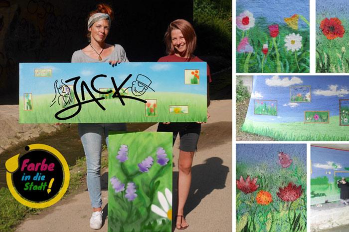 """""""Farbe in die Stadt"""" :: Sie sehen Impressionen zum Street Art Projekt der Redaktion Freistunde und dem Kreativ-Kollektiv ..."""