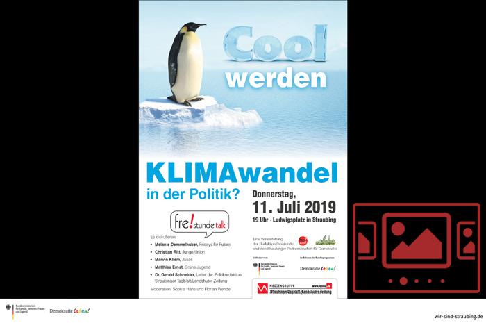 """Impressionen zur Veranstaltung """"Freistunde Talk - Klimawandel und Politik"""" anzeigen ..."""