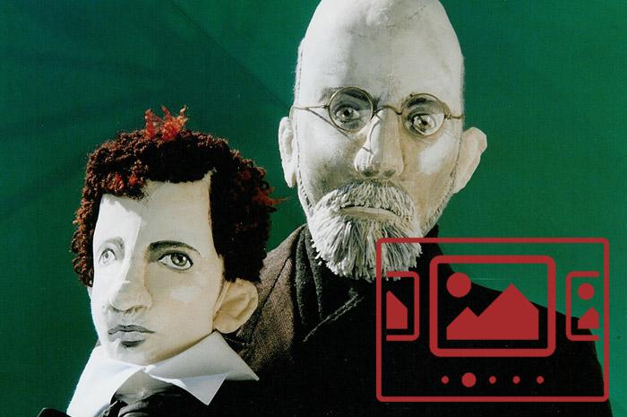 Das slideshow-Fenster mit begleitenden Bildern 'Experimentelles Theater Günzburg – Korczaks Koffer' anzeigen ...