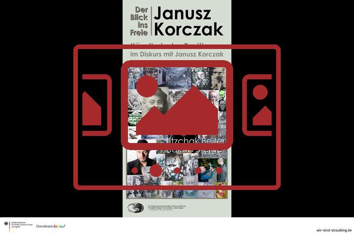 Das slideshow-Fenster zu den Bildern zur 'kreativen Auseinandersetzung mit Janusz Korczak durch 2 Künstler aus 2 Generationen' anzeigen ...