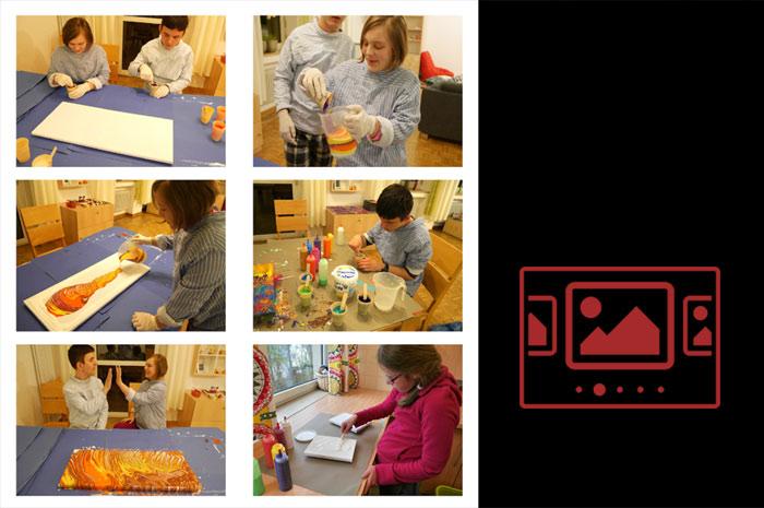"""Impressionen zu unserem Projekt """"Kunst bewegt – Achtsam für Menschlichkeit"""" anzeigen ..."""