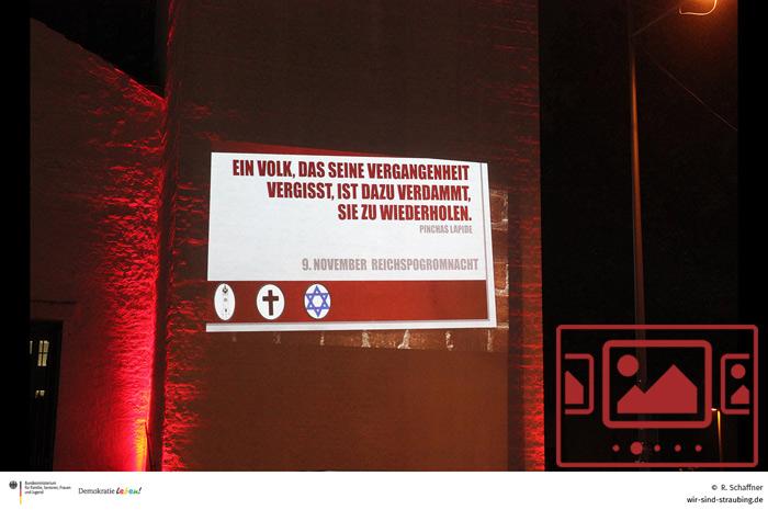 Das slideshow-Fenster mit Impressionen zur Gedenkveranstaltung 2020 anlässlich der Reichspogromnacht anzeigen ...