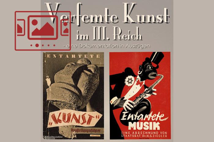 Das slideshow-Fenster mit begleitenden Bildern zur Ausstellung 'Verfemte Kunst im III. Reich - Eine Dokumentation in Auszügen' anzeigen ...