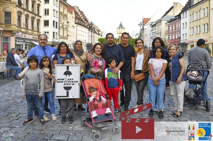 """Ein Slideshow Video-Clip mit Impressionen zur """"Tafel der Kulturen 2021"""" anzeigen ..."""
