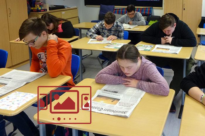 """Impressionen zu unserem Themenschwerpunkt """"Zeitung in die Schule / Schule in die Zeitung"""" (ZIS) anzeigen ..."""