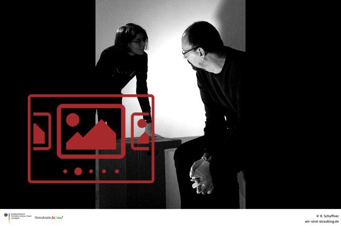 """Sie sehen Impressionen aus unserer Veranstaltung 'Experimentelles Theater Günzburg mit dem Stück """"ZÜNDELN – oder Josef M. und Seinesgleichen""""' ..."""