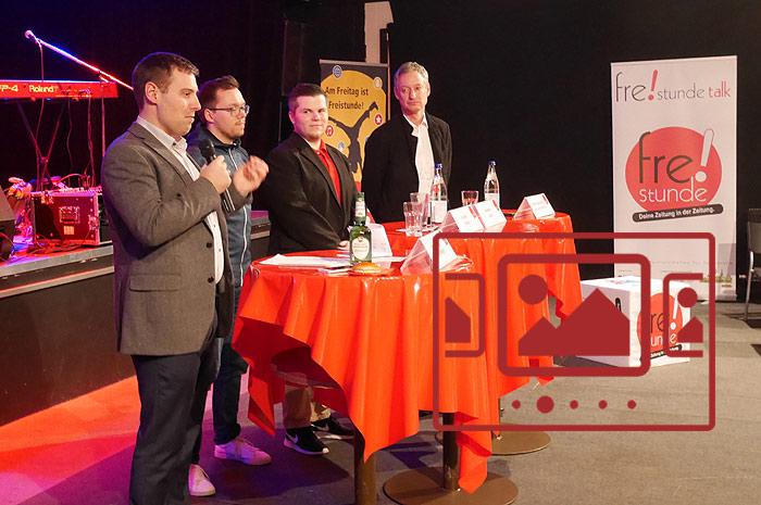 Das slideshow-Fenster mit begleitenden Bildern zur Veranstaltung 'Freistunde Talk - Uni Goes Straubing' anzeigen ...
