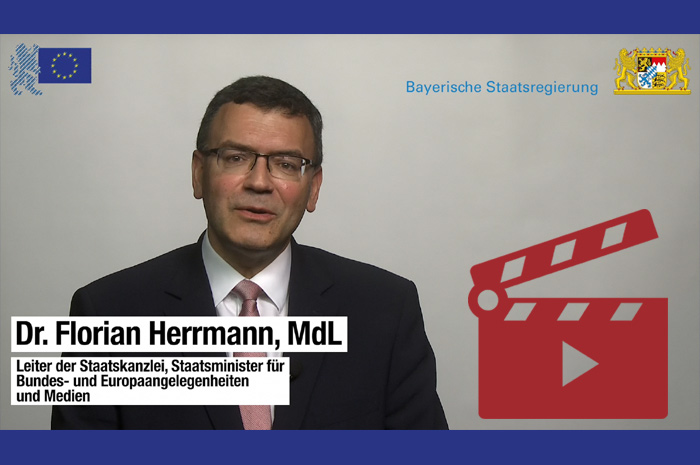 Das Video-Fenster 'Ein Grußwort von Dr. Florian Herrmann, MdL' anzeigen ...