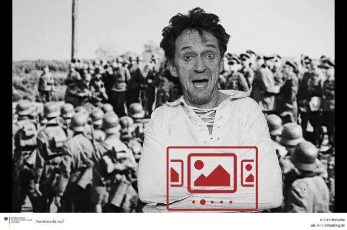 """Das slideshow-Fenster mit Szenen-Bildern aus dem Trailer zum neuen Musik-Video """"Pastinaken-Polka"""" von Ecco Meineke anzeigen ..."""