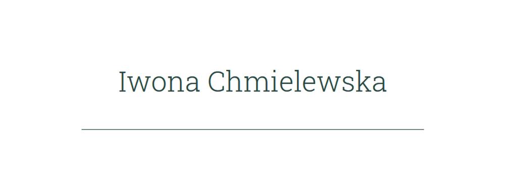 Das Logo von Iwona Chmielewska