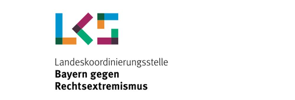Das Logo der Landeskoordinierungsstelle Bayern gegen Rechtsextremismus.