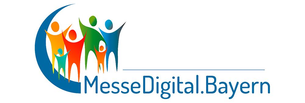 Das Logo der neuen digitalen Messe- und Event-Plattform :: MesseDigital.Bayern